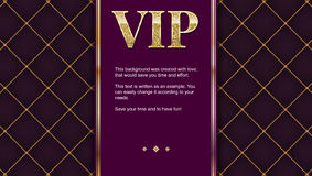 VIP premium invitation card, poster or flyer for party. Golden design template with glittering shine text. vector illustration