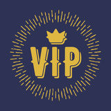 VIP premium letters with crown and shine. Royalty Free Stock Photo
