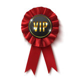 VIP. Realistic,red label, isolated on white Stock Images