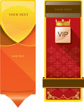 VIP red background and simple background. Gold crown Royalty Free Stock Photography