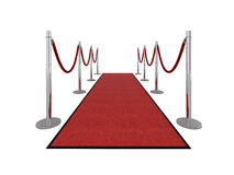 VIP red carpet illustration - front view. Red carpet vip illustration isolated on white. Please see my portfolio for different views Stock Photography
