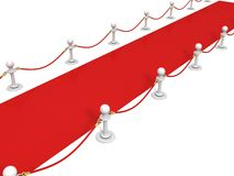 VIP red carpet with rope barrier Stock Photography