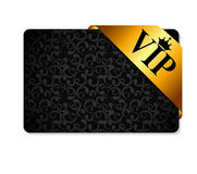 VIP Ribon on Card Vector Illustration Royalty Free Stock Photos
