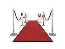 VIP rode tapijtillustratie - vooraanzicht Stock Fotografie