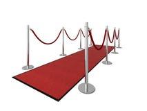 VIP rood tapijt - Zijaanzicht Royalty-vrije Stock Fotografie