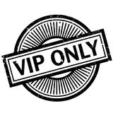 Vip Only rubber stamp. Grunge design with dust scratches. Effects can be easily removed for a clean, crisp look. Color is easily changed Royalty Free Stock Photography