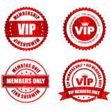 VIP rubber stamp. VIP membership grunge stamp / seal collection with text isolated on white background Stock Images
