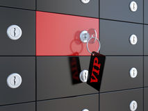 VIP safety deposit boxes Stock Image
