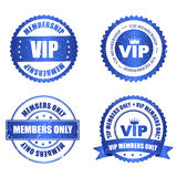 VIP seal. VIP membership grunge stamp / seal collection with text isolated on white background Royalty Free Stock Images