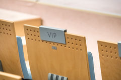 VIP seat at a hall Stock Photography