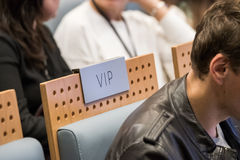 VIP seat at a hall Royalty Free Stock Photography