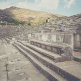 Vip seats on antique stadium in Ancient Messina Stock Images
