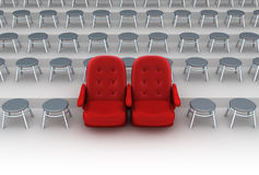 Vip seats concept Royalty Free Stock Images