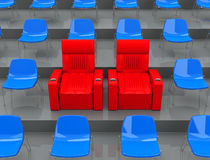 The VIP seats Royalty Free Stock Photo