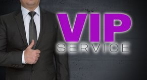 VIP service concept and businessman with thumbs up.  stock images