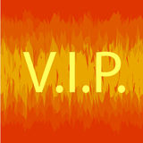 VIP sign in fire Stock Image