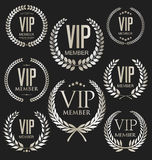 VIP silver and gold label collection Royalty Free Stock Photos