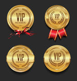 VIP silver and gold label collection. VIP silver and gold label set Royalty Free Stock Photography