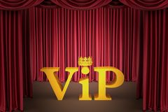 Vip on stage in a spotlight lighting Royalty Free Stock Images