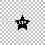 Vip star icon flat vector illustration