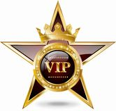 VIP Star. With gold elements and brilliants Stock Image
