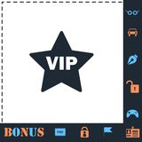 Vip star icon flat royalty free illustration