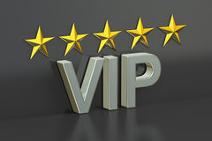 VIP, 5 stars concept, 3D rendering. VIP, 5 stars concept. 3D rendering on black background stock illustration