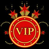 VIP sur le fond d'étoiles Image stock