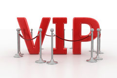 VIP Surrounded By Vip Barrier Royalty Free Stock Images