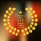 VIP symbol in gold with laurel Royalty Free Stock Photography