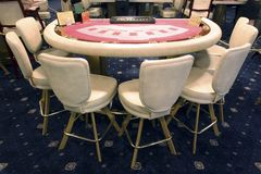 VIP table in casino. Table for game of casino. Moscow, Russian Royalty Free Stock Images