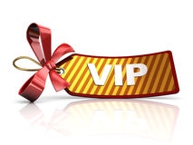Vip tag. 3d illustration of tag with text 'vip' over white background Royalty Free Stock Photos