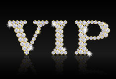 VIP tag composed from diamonds Royalty Free Stock Photos