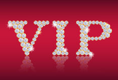 VIP tag composed from diamonds Royalty Free Stock Photography