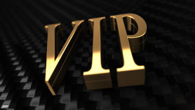 VIP Tekst 3D Zwarte Achtergrond Royalty-vrije Stock Foto's