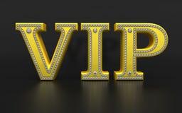 VIP tekst met diamanten Royalty-vrije Stock Foto's