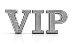 VIP tekst met diamanten Royalty-vrije Stock Afbeelding