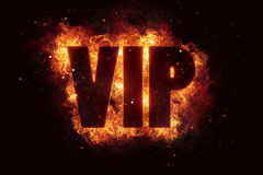 Vip text flame flames burn burning hot explosion Stock Image