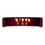 Vip text on ribbon Stock Photography