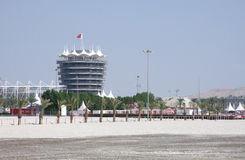 VIP tower in Bahrain International Circuit Royalty Free Stock Images