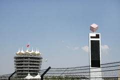 VIP tower and a huge electronic score board in BIC Stock Images