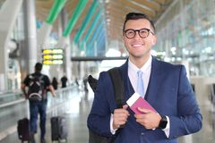 VIP traveler satisfied with his trip royalty free stock photos