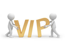 VIP. Two people holding a VIP symbol Stock Photos