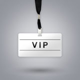 VIP or Very Important Person on badge Stock Photos