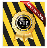 Vip warning sign Royalty Free Stock Photo