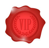 Vip wax seal illustration design Stock Photos