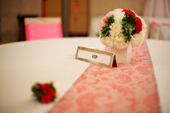VIP Wedding Table. For special persons such as wedding couple's family Stock Photography
