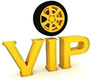 Vip with a wheel Stock Photography