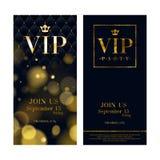 VIP zaproszenia kart premii projekta szablony Obraz Royalty Free