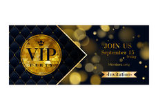 VIP zaproszenia karty premii projekta szablon Obraz Stock
